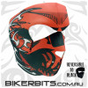 Headwear - Neoprene Full Face Mask - Red Skull