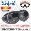 Motorcycle Goggles - Airfoils - 9319 - Polarized Smoke