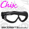 Motorcycle Goggles - Chix Goggles - Clear/Black