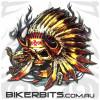 Biker Decal - Native Indian Skull