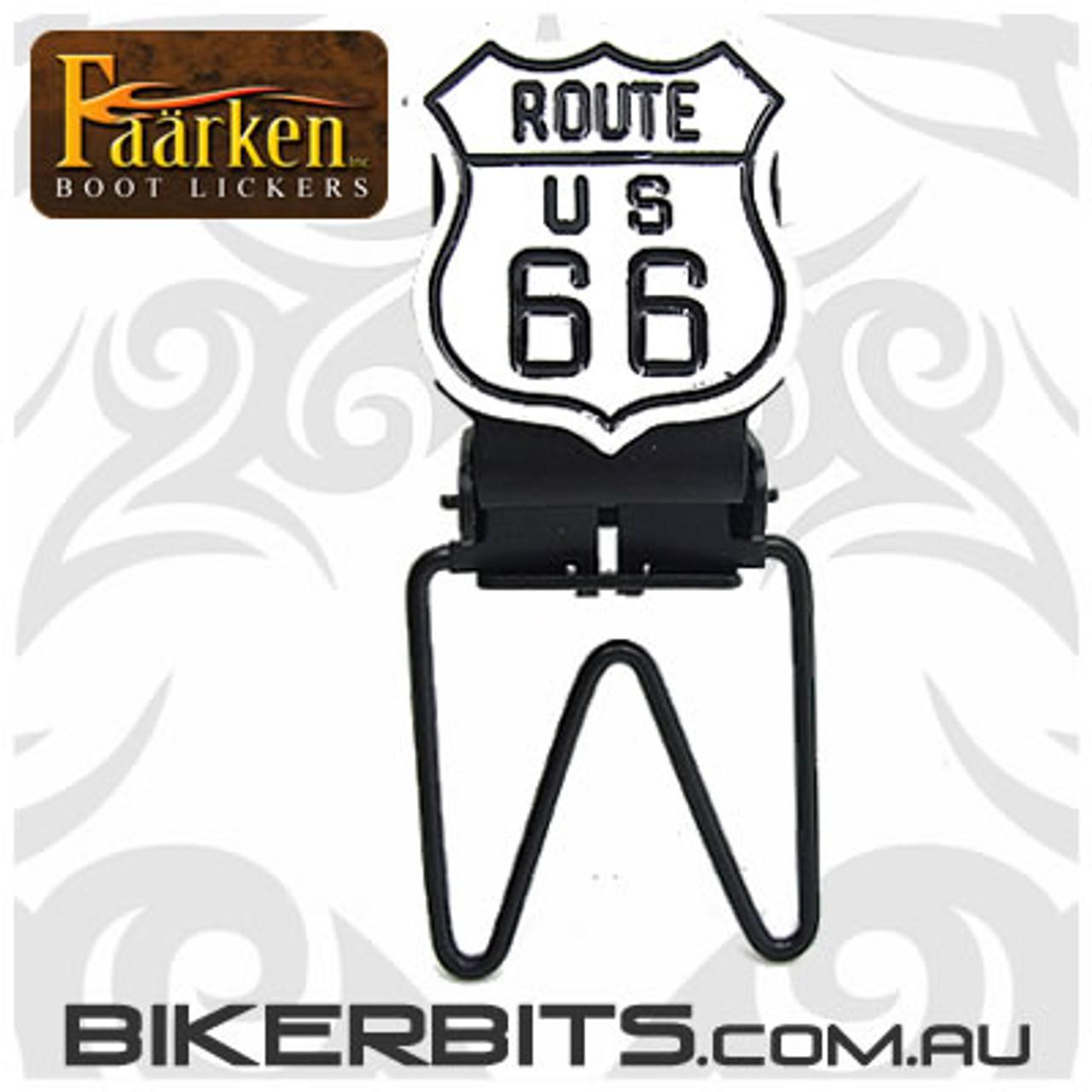 Faarken Biker Boot Lickers - Route 66 - White