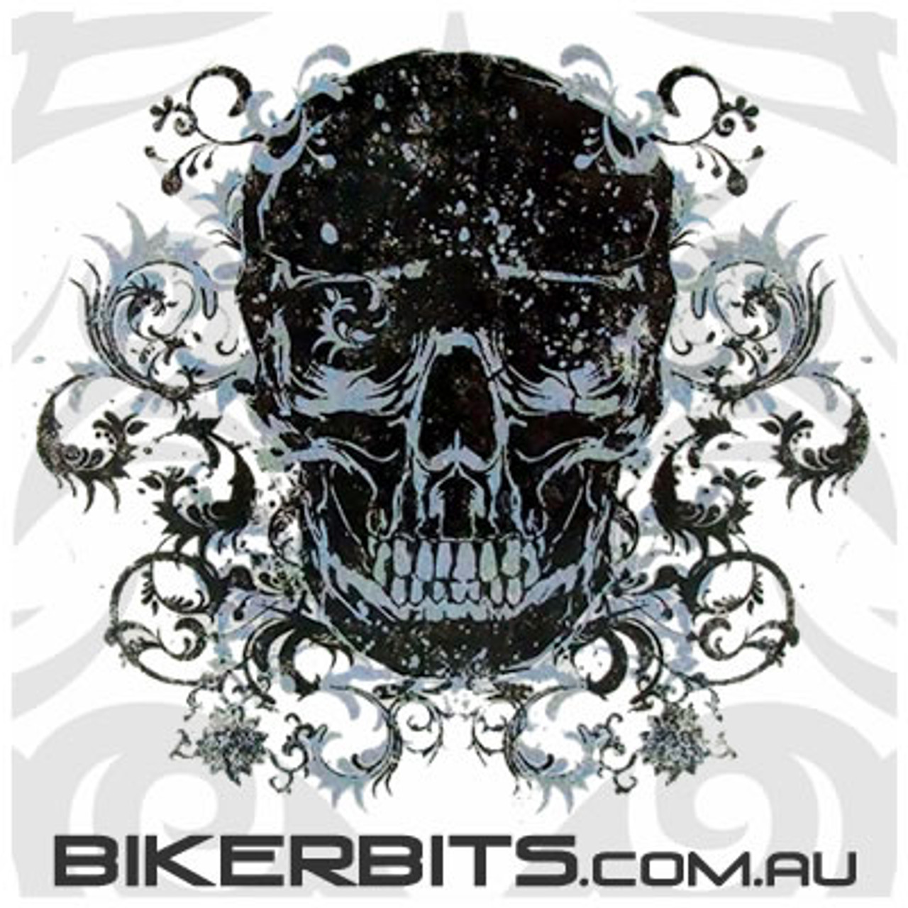 Biker Decal - Filigree Skull