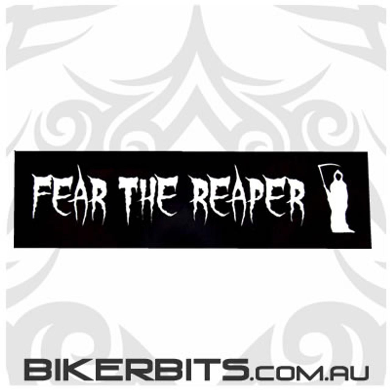 Helmet Sticker - Fear The Reaper