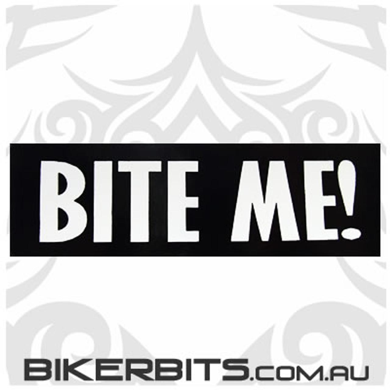 Helmet Sticker - Bite Me!