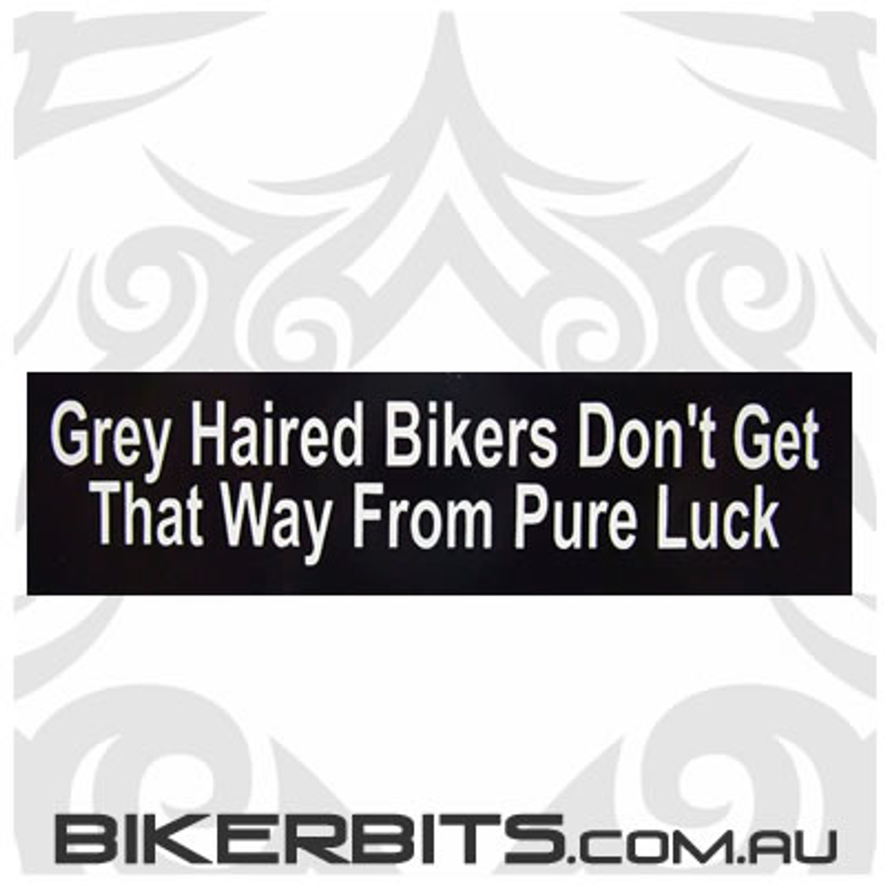 Helmet Sticker - Grey Haired Bikers