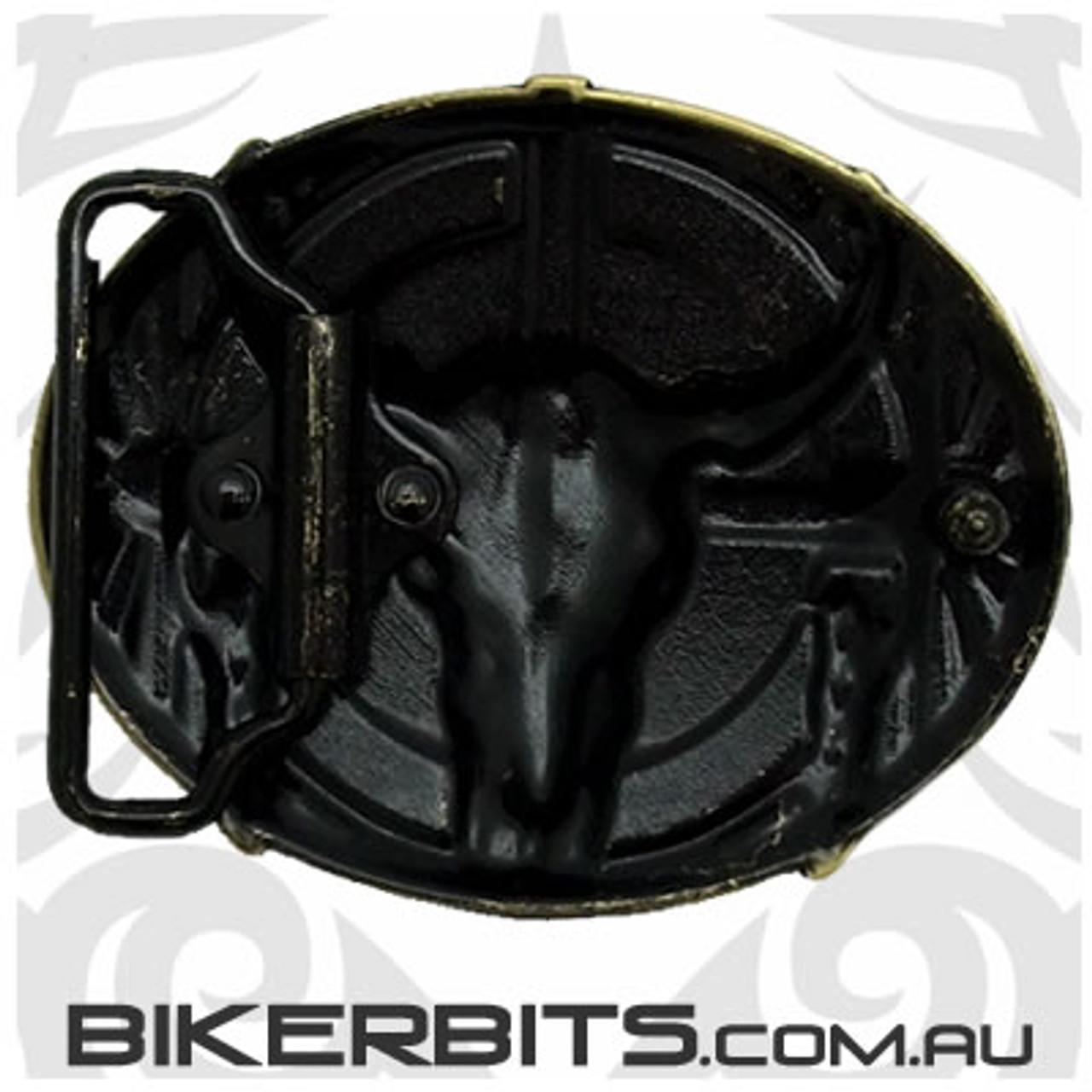 Belt Buckle - Bull Skull - Bronze