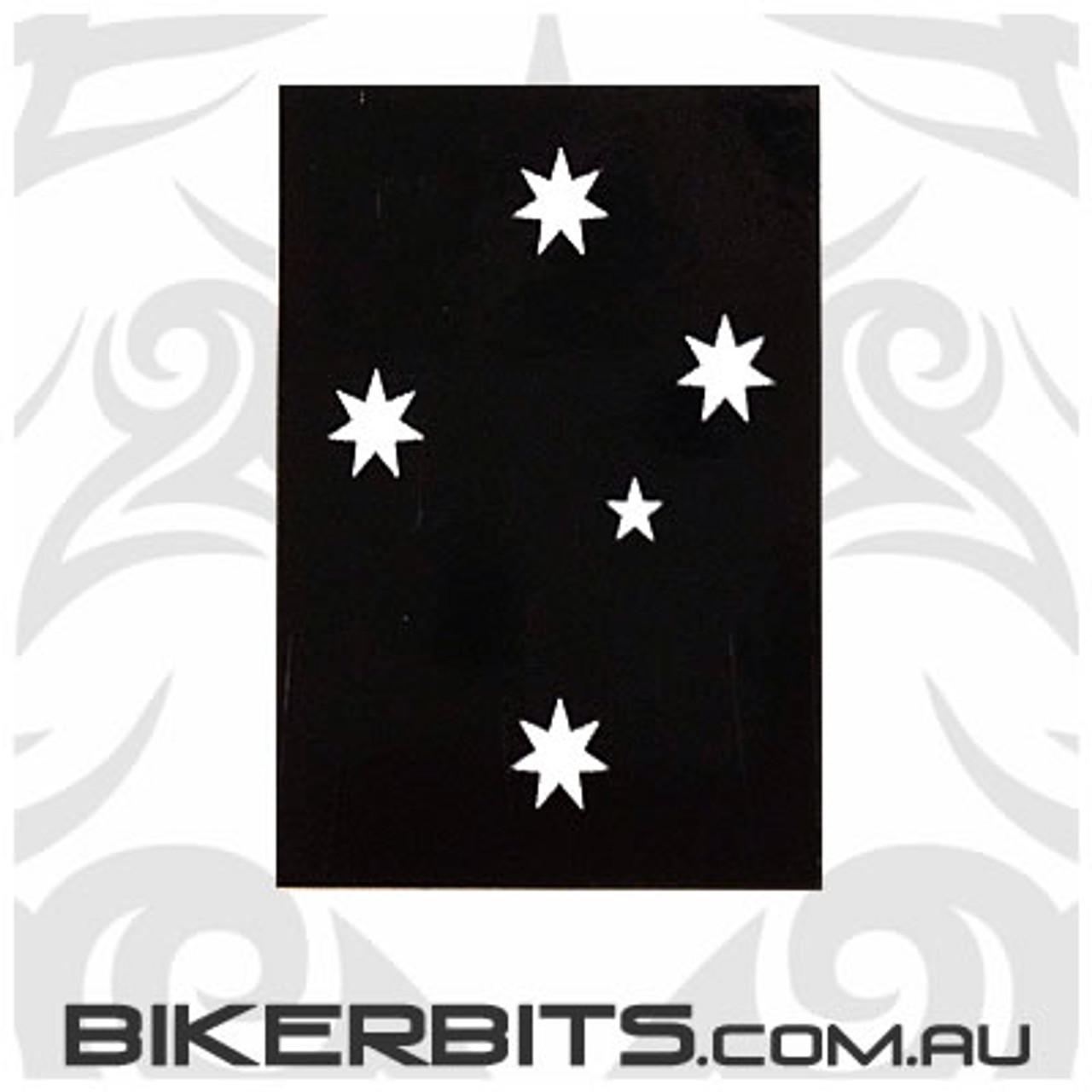 Biker Decal - Black Southern Cross