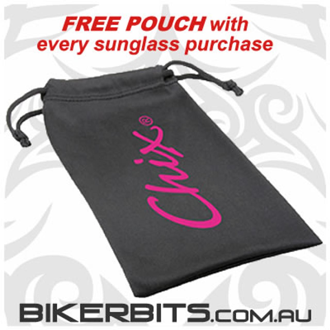 Motorcycle Sunglasses - Chix - Freedom Purple with Grey Fade Len