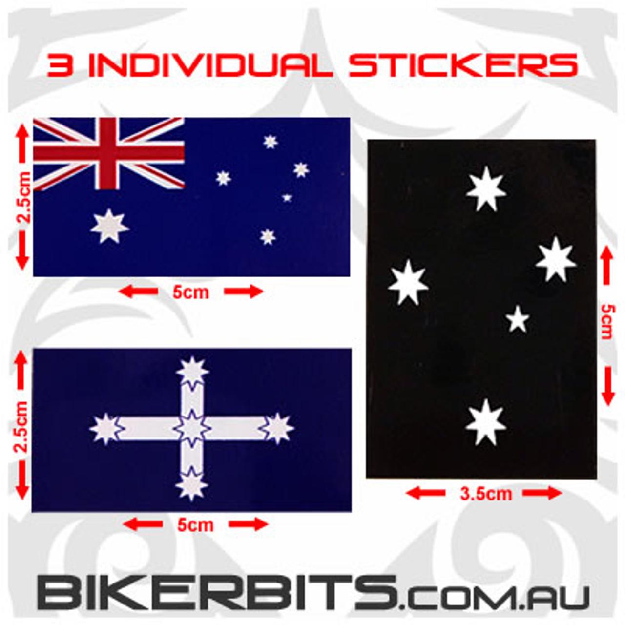 Biker Decal - Aussie Set