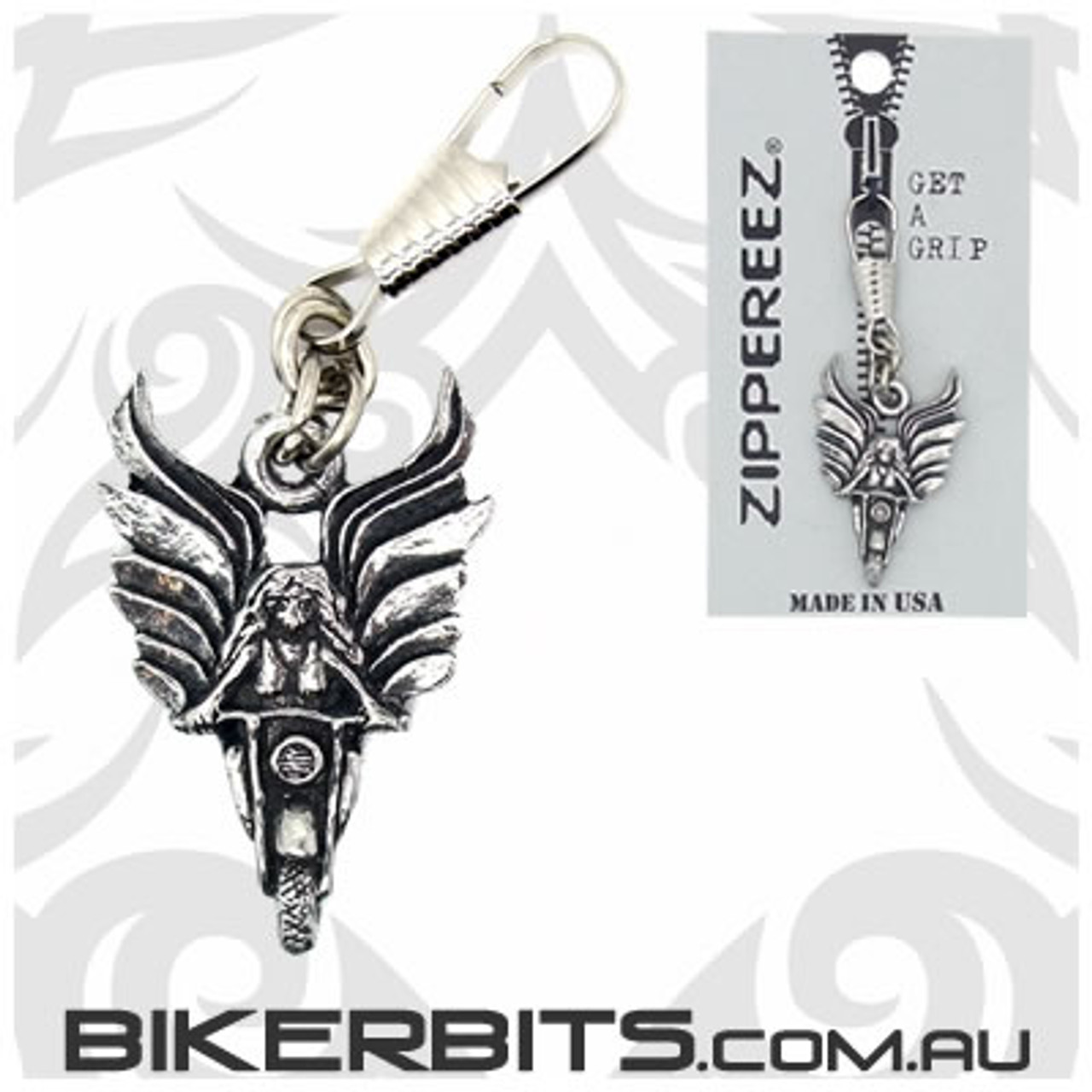 Zippereez Zipper Pull - Angel Rider