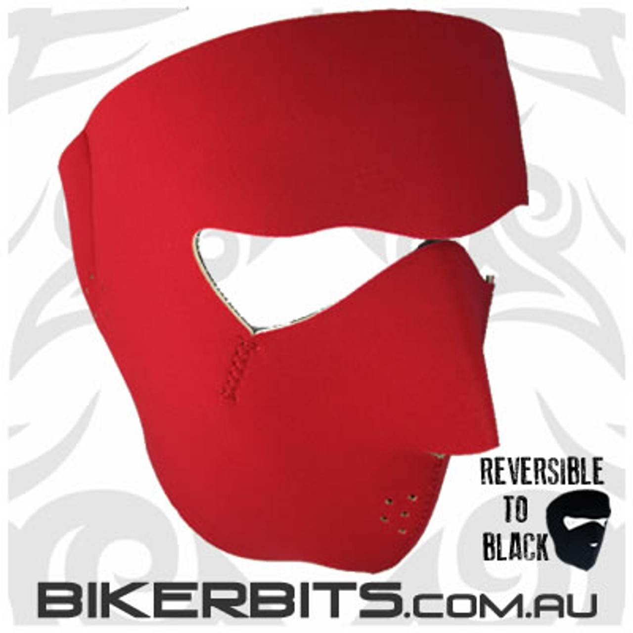 Headwear - Neoprene Full Face Mask - Red