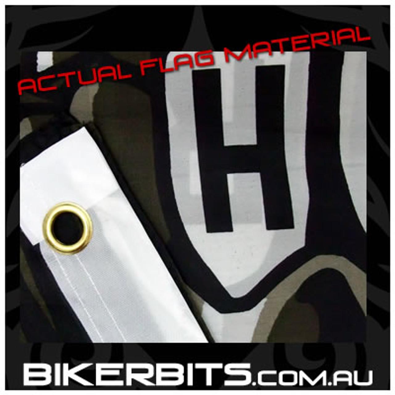 Biker Flag - Hardcore Skull