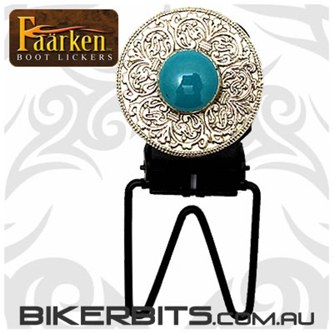 Faarken Biker Boot Lickers - Tribal - Turquoise