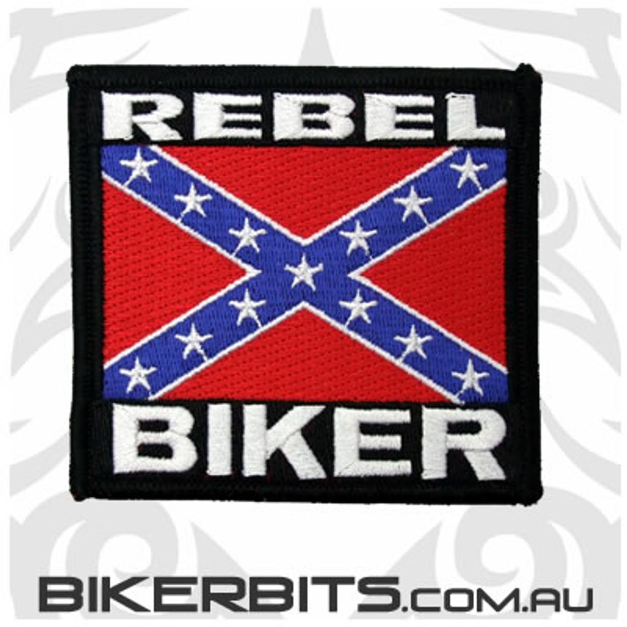 Patch - Rebel Biker Flag