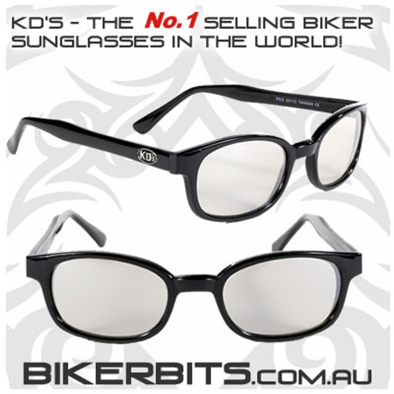 Motorcycle Sunglasses - KD's Clear Silver Mirror
