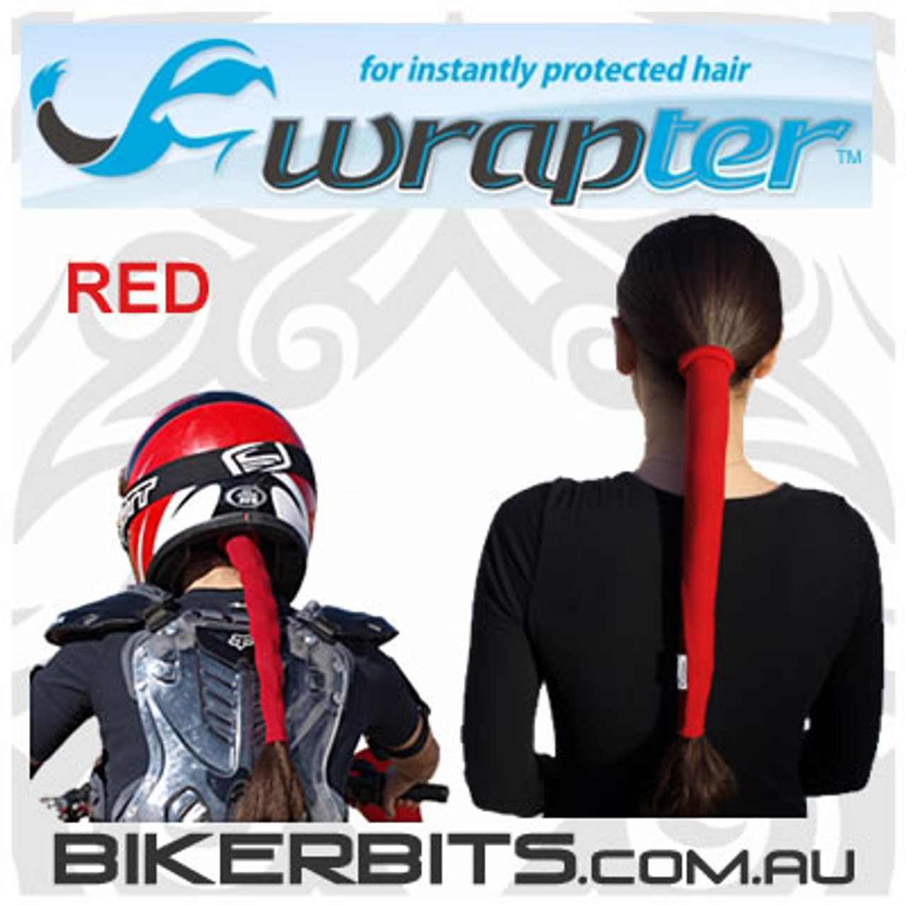 Headwear - Wrapter Hair Wrap - Red