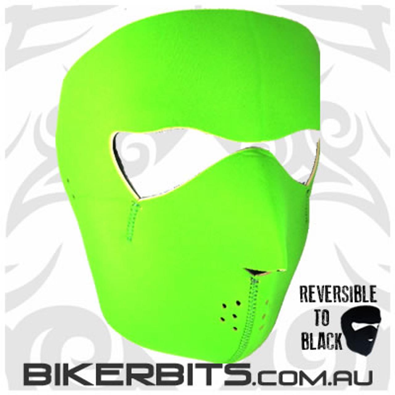 Headwear - Neoprene Full Face Mask - Green