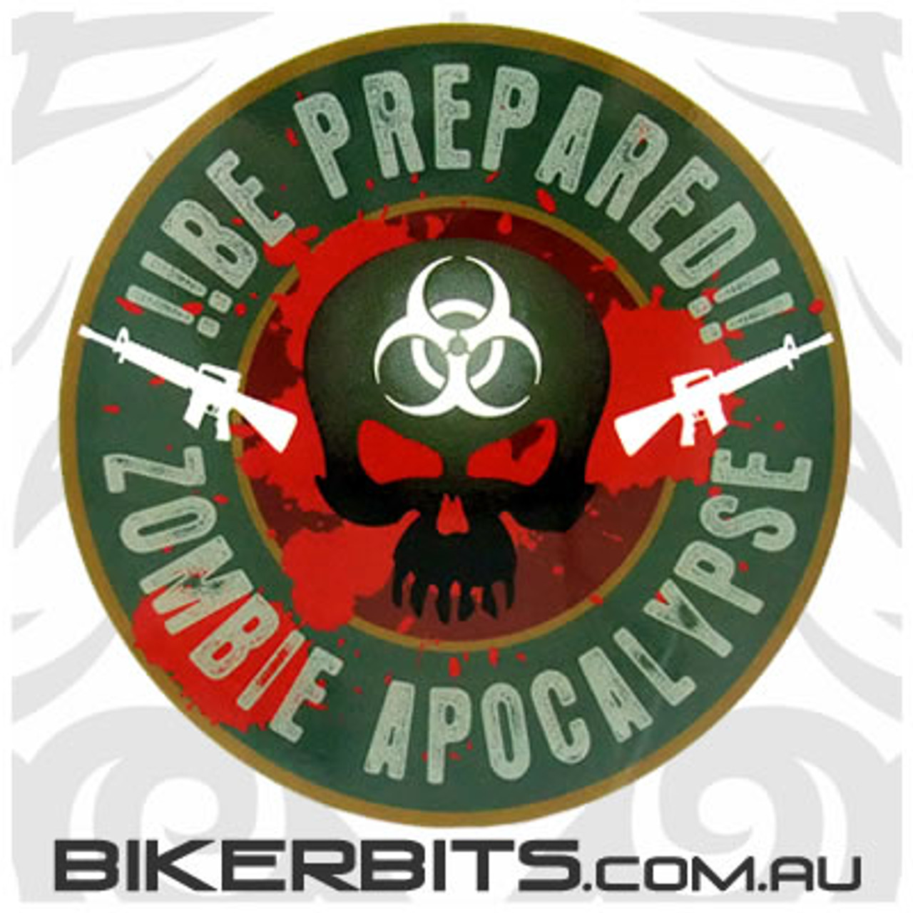 Biker Decal - Zombie Apocalypse