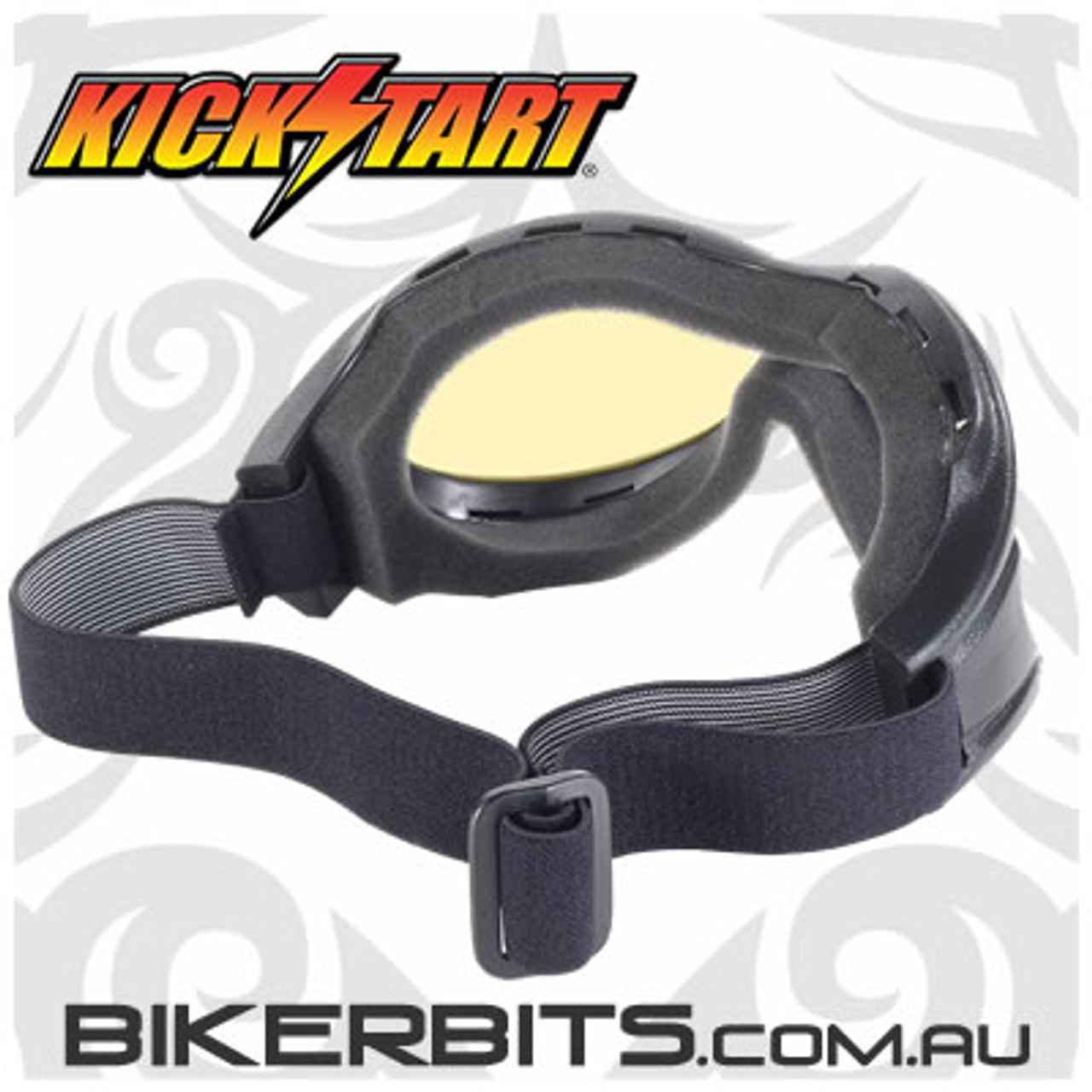 Motorcycle Goggles - Kickstart Beast- Yellow/Black