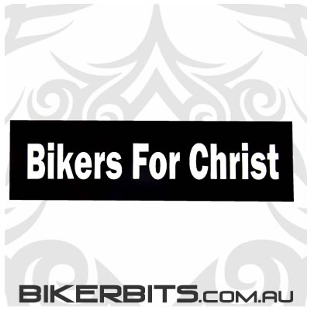 Helmet Sticker - Bikers For Christ