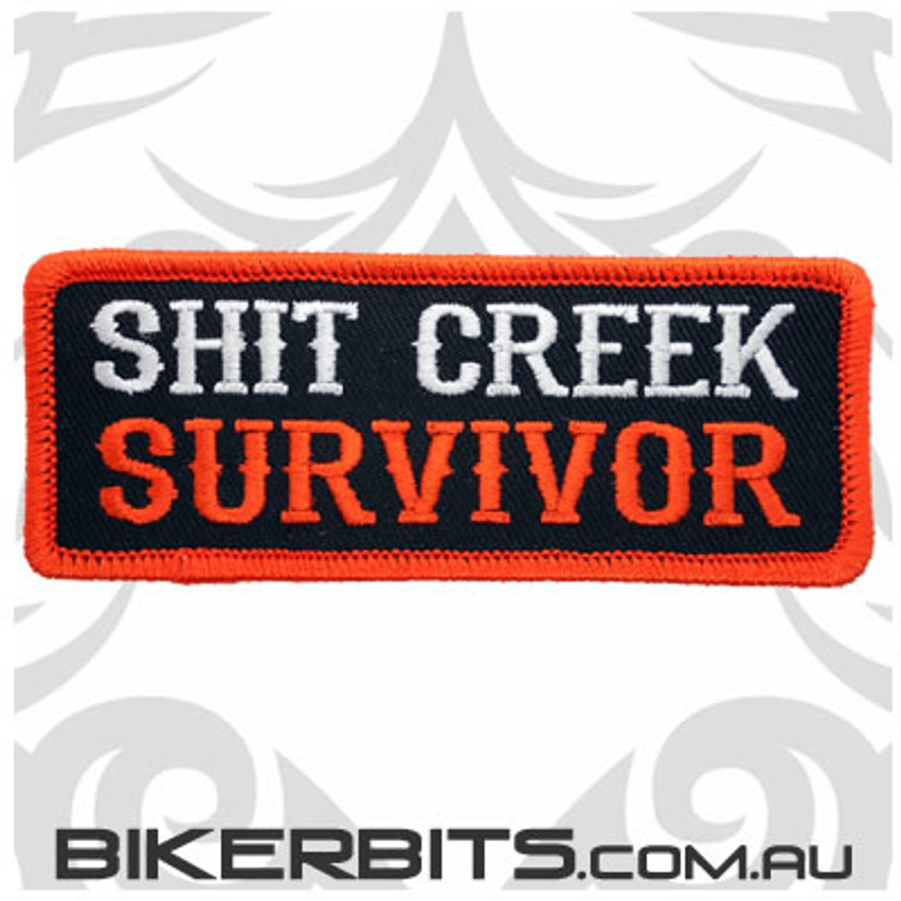 Shit Creek Survivor Biker Patch