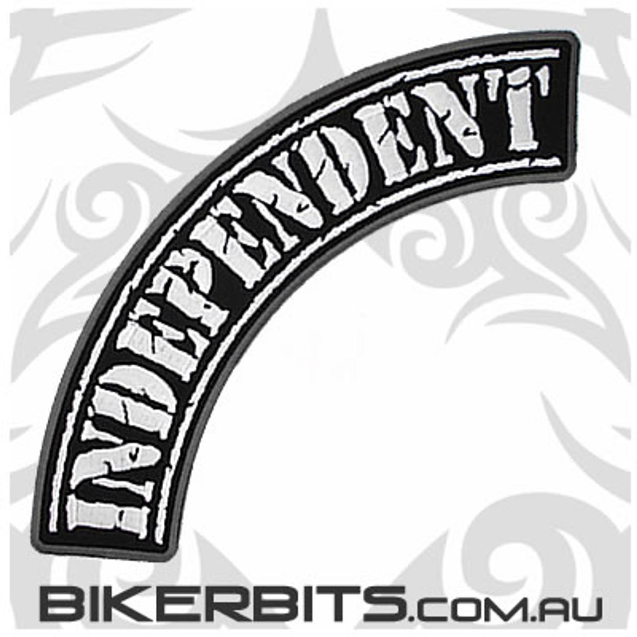 Patch - Biker Club Rocker - Independent - Distressed