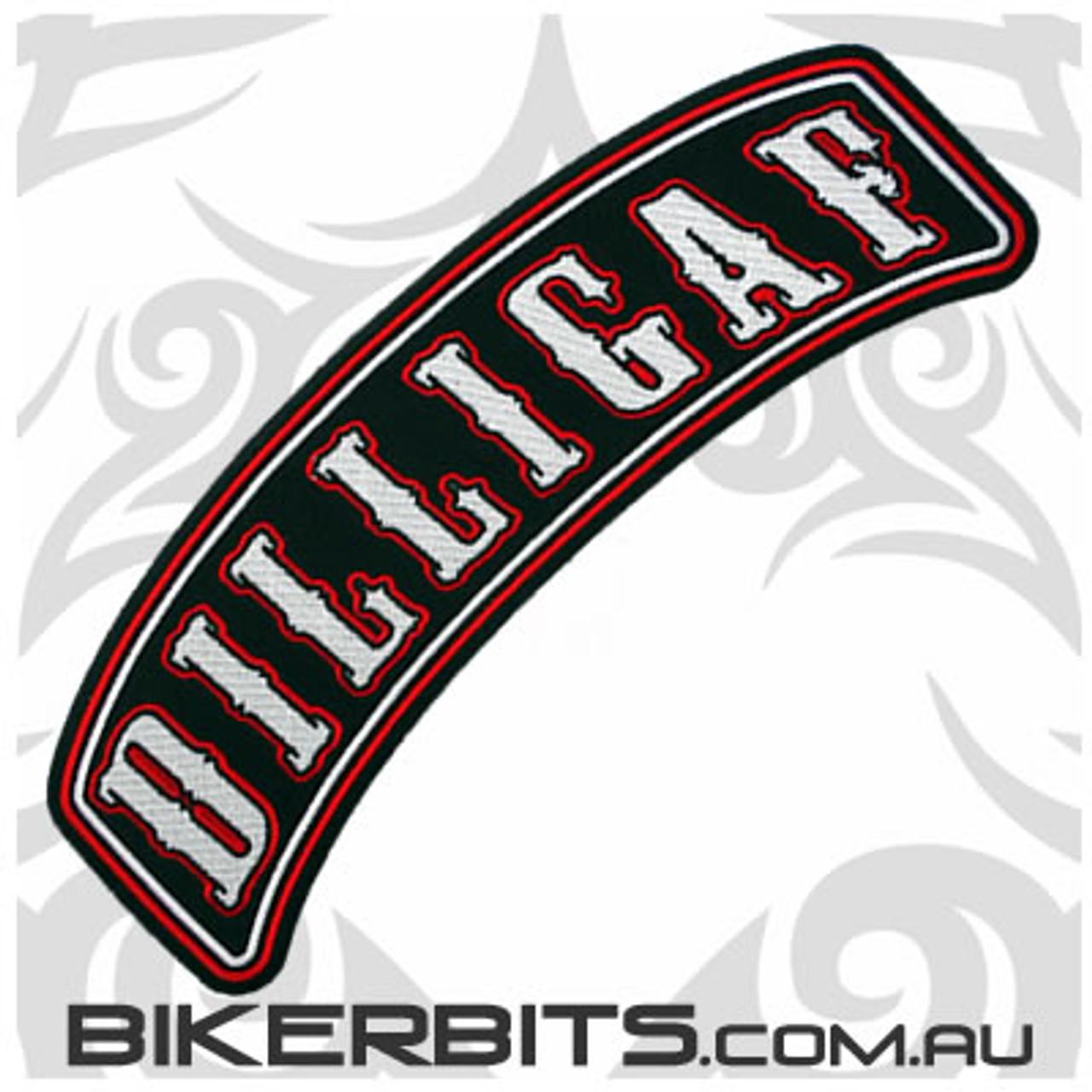 Patch - Biker Club Rocker - DILLIGAF - Red