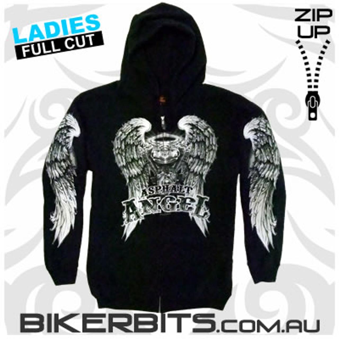 Biker Hoodie - Asphalt Angel