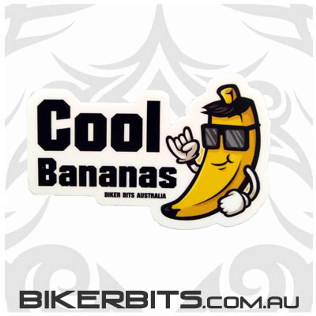 Biker Decal - Cool Bananas