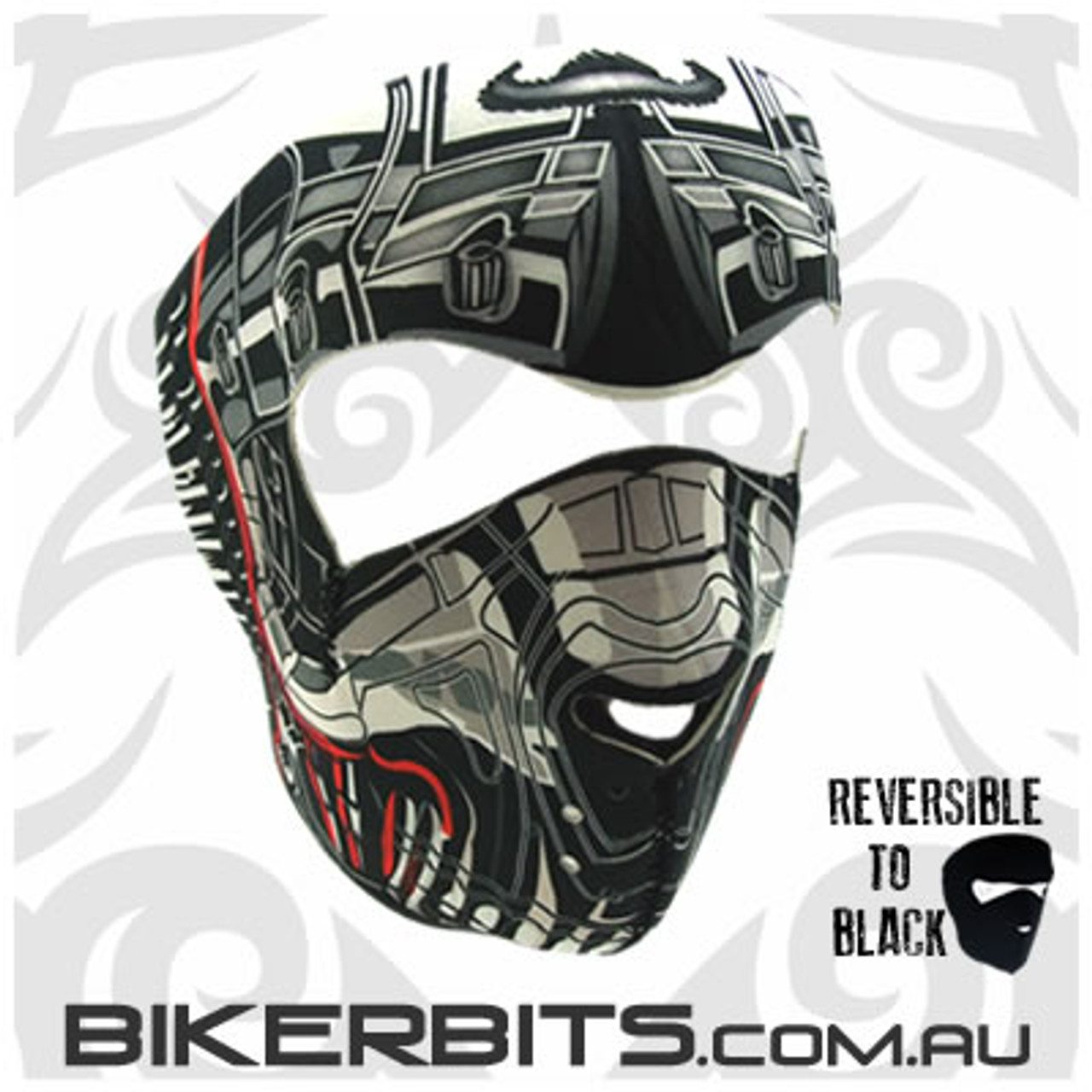 Headwear - Neoprene Full Face Mask - Robo Skull