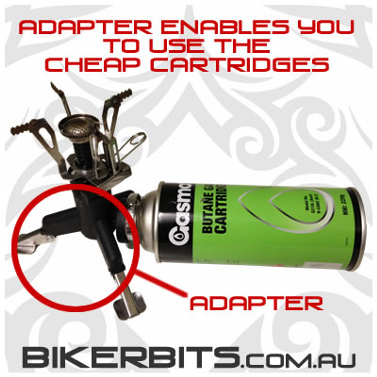 Butane Gas Cartridge Adapter