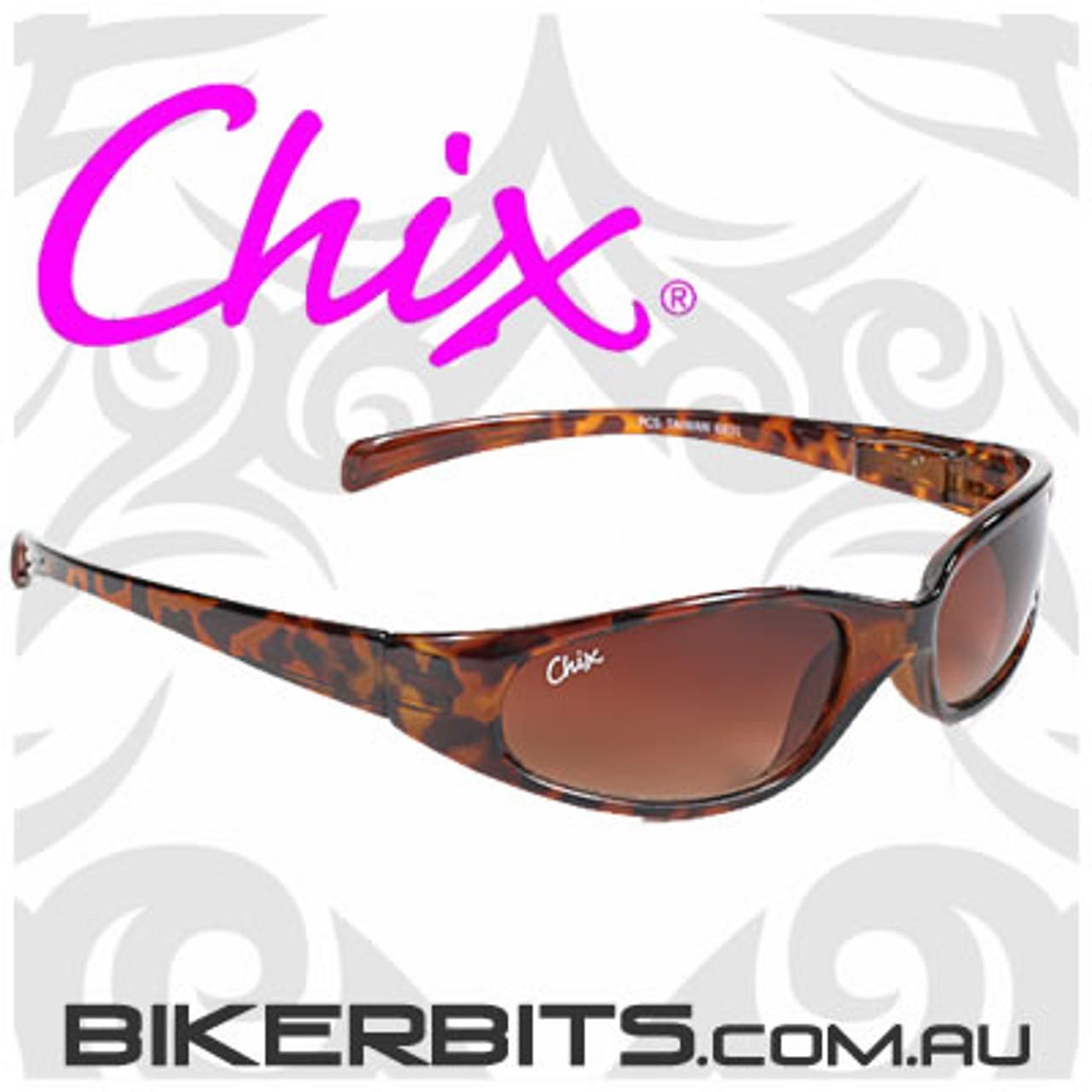 Motorcycle Sunglasses - Chix Heavenly - Brown Gradient/Tortoise
