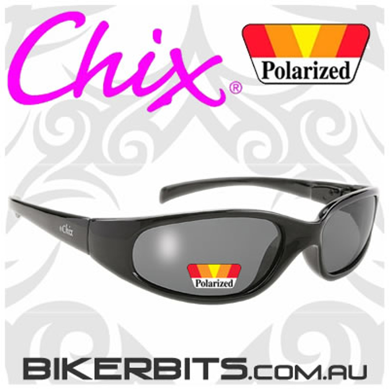 Motorcycle Sunglasses - Chix Heavenly - Polarized Smoke/Black