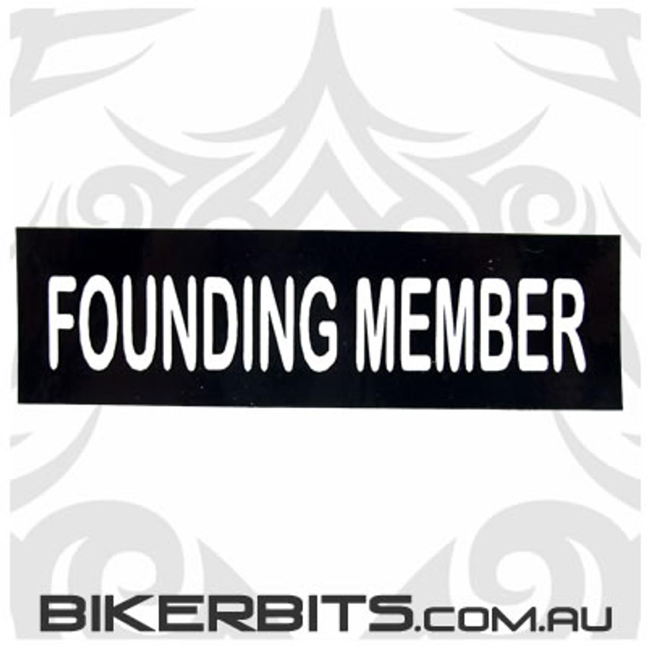 Helmet Sticker - Founding Member