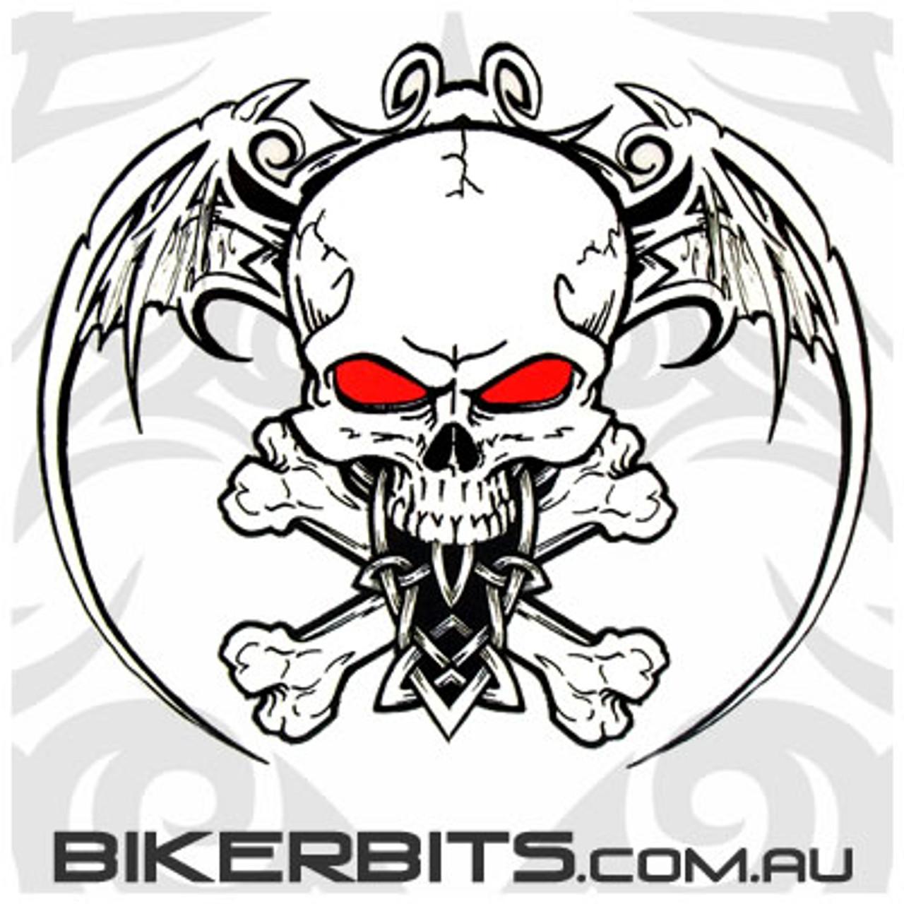Biker Decal - Aftermath - Wingskull