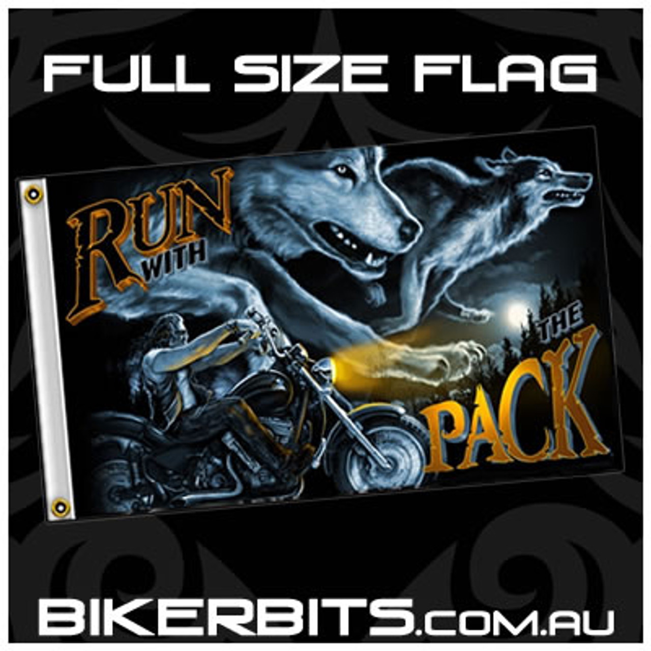 Biker Flag - Run With The Pack