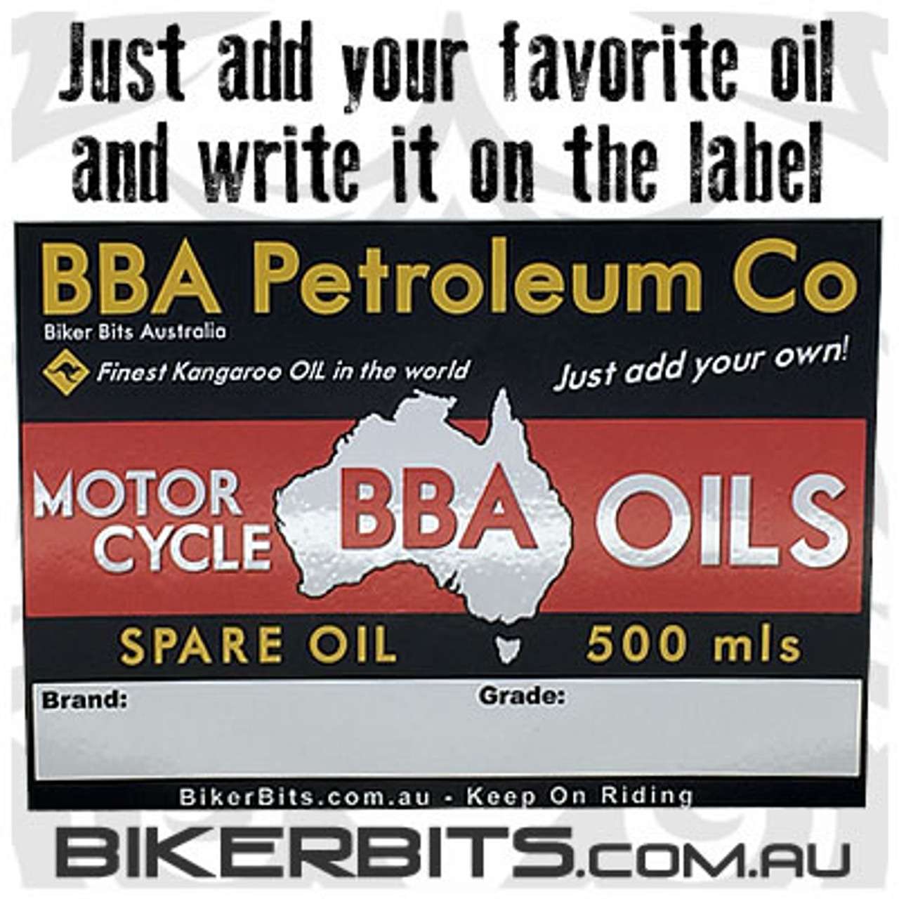500ml Spare Motorcycle Oil Bottle