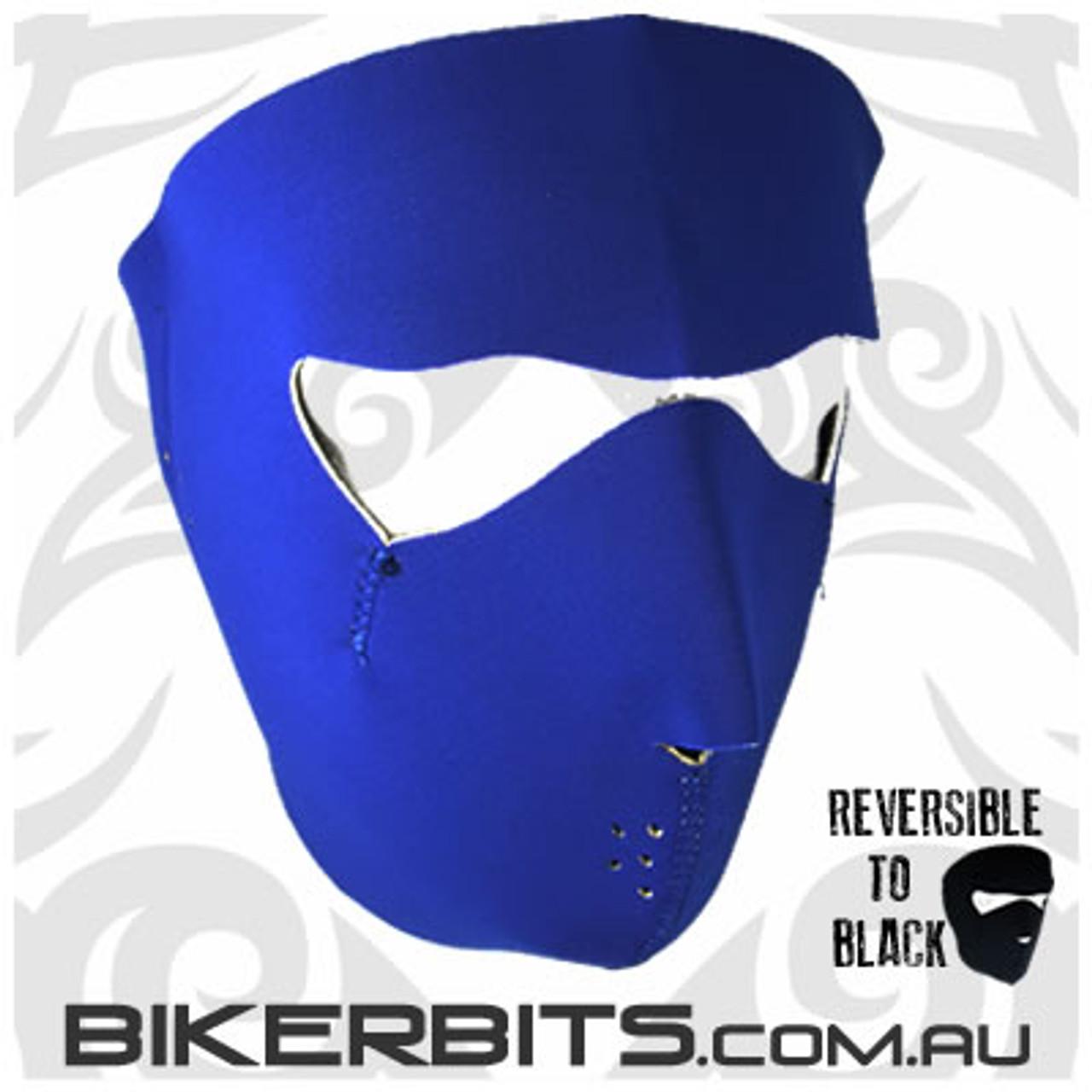 Headwear - Neoprene Full Face Mask - Blue