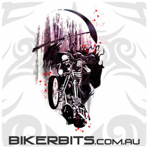 Biker Decal - Grim Reaper