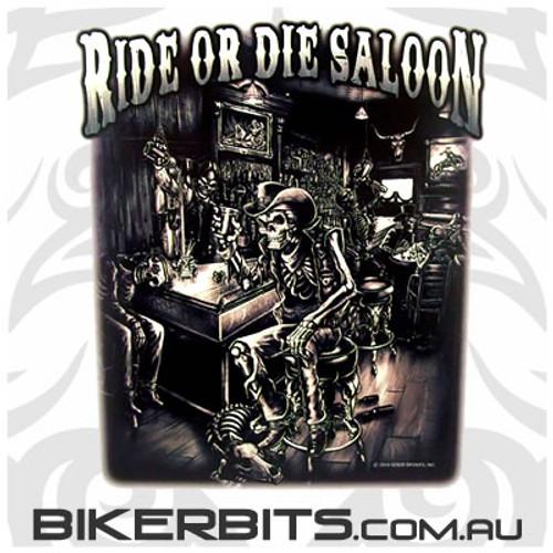 Biker Decal - Ride or Die Saloon