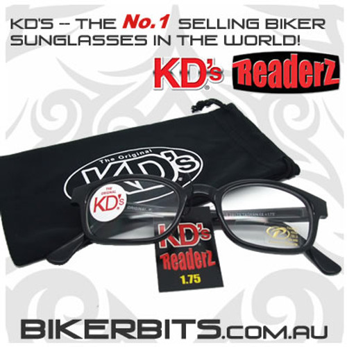 Motorcycle Sunglasses - KD's Bi-Focal Readerz - Clear - 1.75