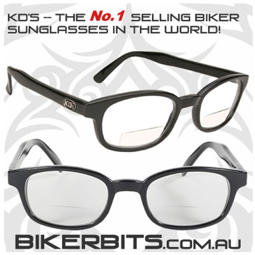 Motorcycle Sunglasses - KD's Readerz - Clear - 1.75