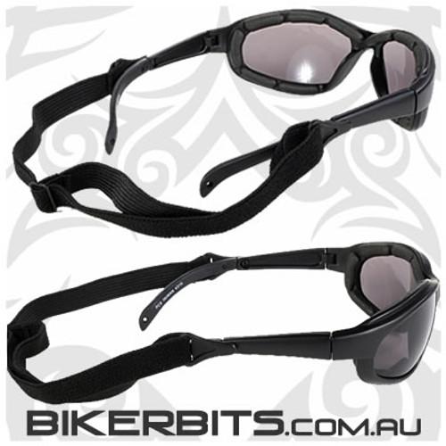 Motorcycle Sunglasses - Freedom Black/Smoke