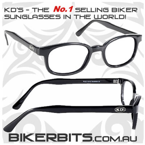 Motorcycle Sunglasses - X KD's Black - Clear