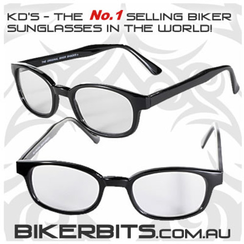 Motorcycle Sunglasses - KD's Black - Day2Nite Lenses