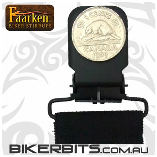 Faarken Biker Stirrups - 69 Beaver Nickel
