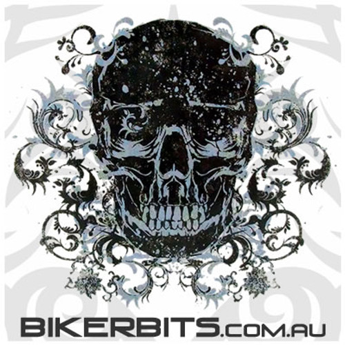 Biker Decal - Filigree Skull