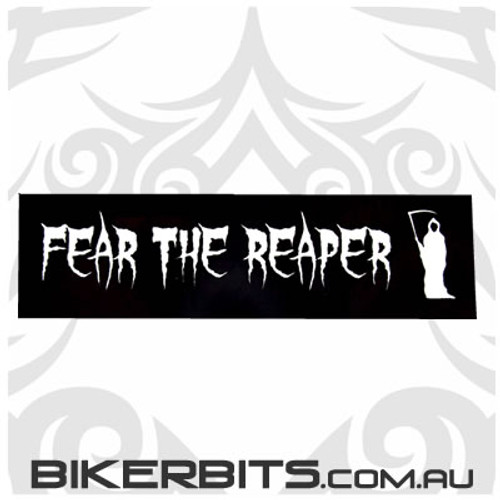 Helmet Sticker - Fear The Reaper