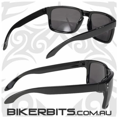 Motorcycle Sunglasses - Rumble - Smoke Black