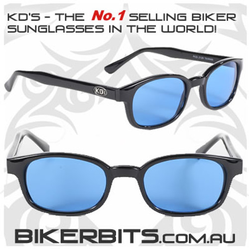 Motorcycle Sunglasses - KD's Black - Turquoise